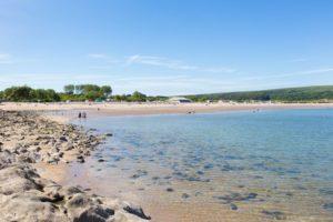Oxwich beach near Swansea dog friendly
