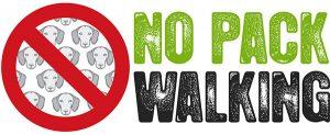 No Pack Walking - Dog Walkers
